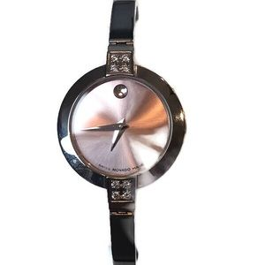 Movado Pink Museum Ladies Diamond Watch